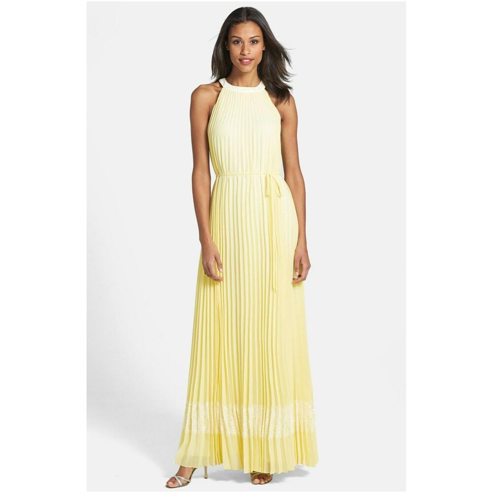 99b4d3bda Details about Ted Baker  Marryy  Pleated Halter Maxi Dress ( Size 0- 2 US)
