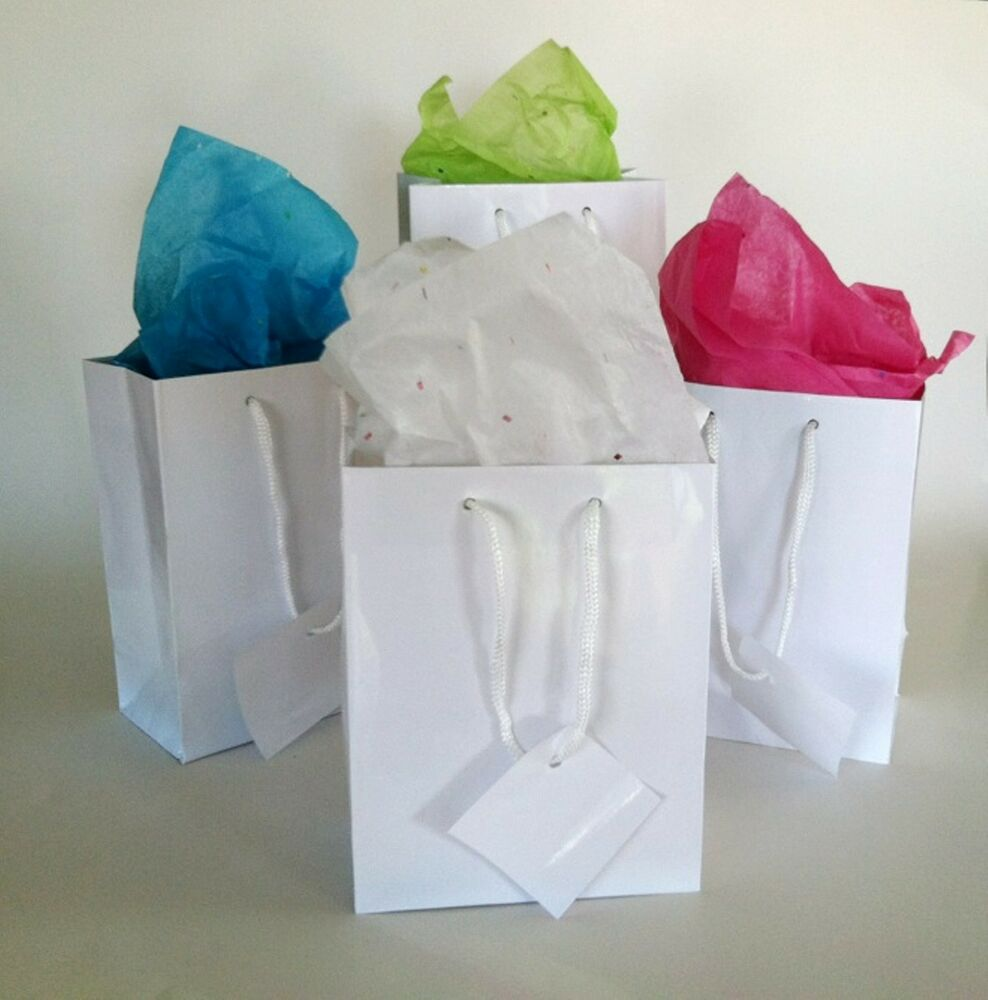 ... White Paper Gift Bags Wedding Birthday Party Favor Bags/Boxes eBay