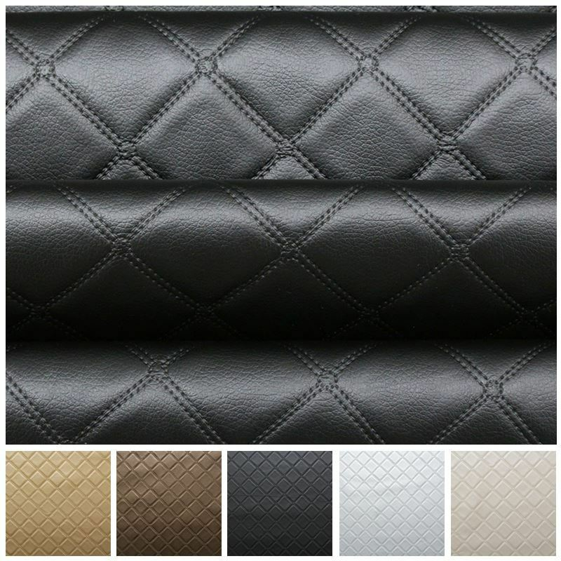 bentley diamond stitch embossed effect camper boat upholstery car faux leather ebay. Black Bedroom Furniture Sets. Home Design Ideas