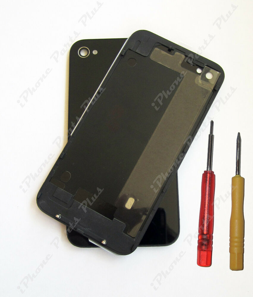 iphone 4 back glass replacement iphone 4 black rear back cover glass at amp t high quality 17330