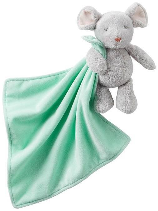 Green Baby Gifts Uk : Carter s plush mouse rattle holding mint green security