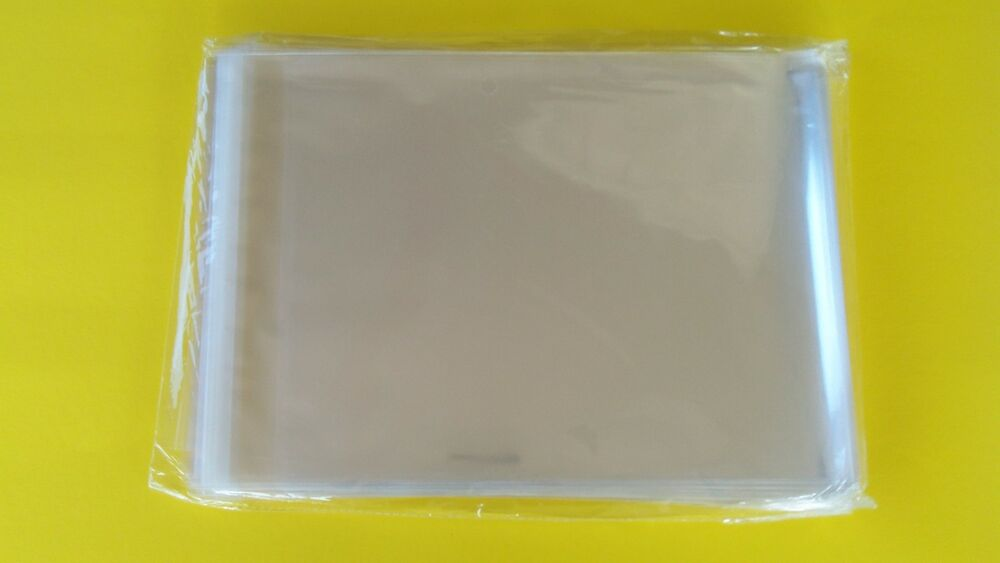 200 11x14 clear resealable poly cello cellophane clothing for Clear plastic dress shirt bags