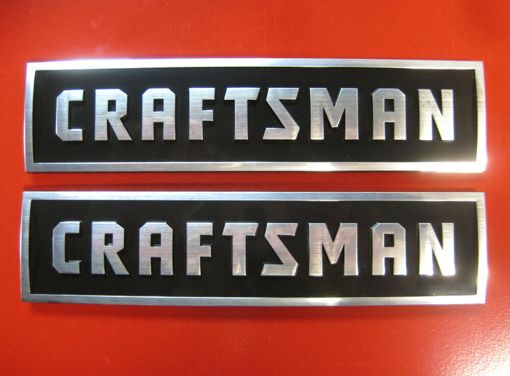 2 Craftsman Tool Box Badges New Style Chest Cabinet