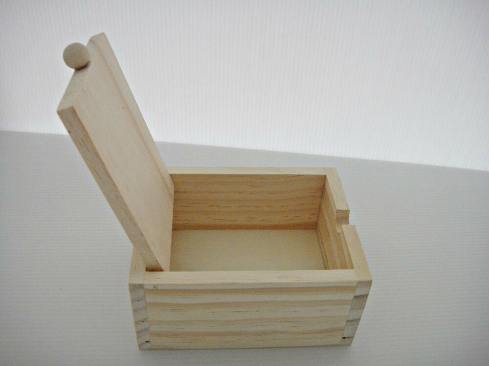 Unfinished unpainted wood multi function box jewelry case for Unfinished wooden boxes for crafts