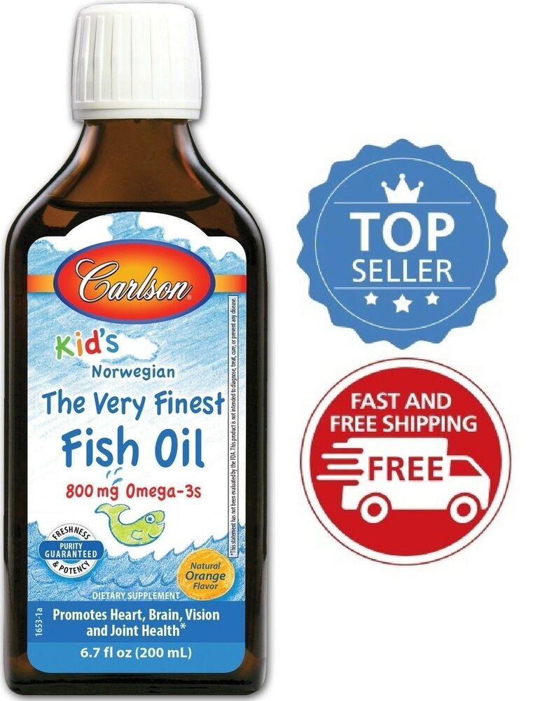 Carlson for kids the very finest fish oil orange 200 ml for Is omega 3 the same as fish oil