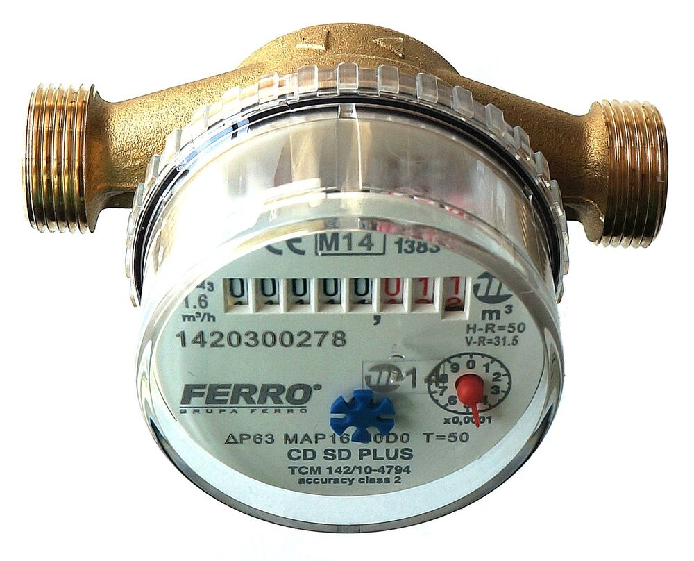 House Water Meter : Water meter for house garden various connectors m h