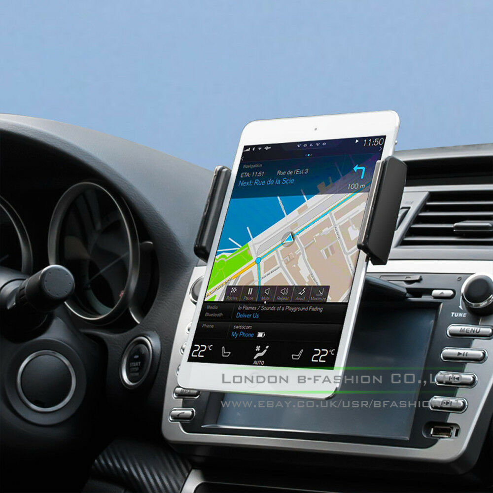 universal tablet car cd slot mount stand holder for cellphone mobile tablet gps ebay. Black Bedroom Furniture Sets. Home Design Ideas