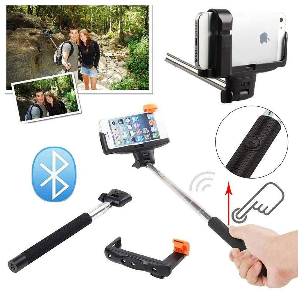 bluetooth self portrait selfie handheld stick monopod holder for camera iphone ebay. Black Bedroom Furniture Sets. Home Design Ideas
