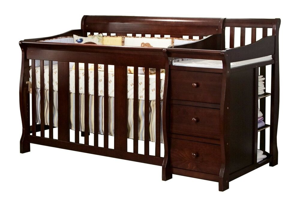 4 in 1 Side Convertible Crib Changer Nursery Furniture ...