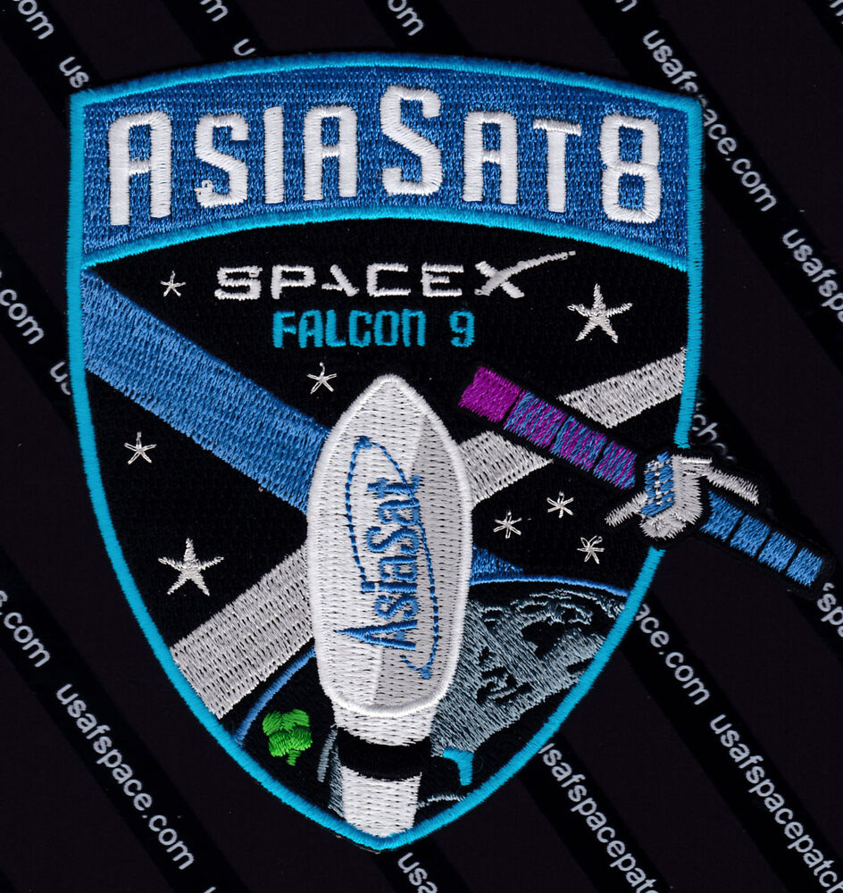 "ASIASAT 8 - AUTHENTIC SPACEX FALCON 9 4.5"" SATELLITE SPACE ..."