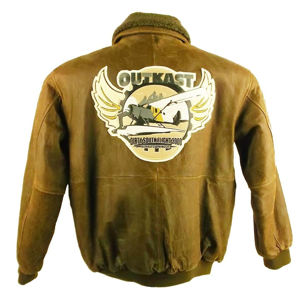 outkast first b bomber air craft style distressed leather. Black Bedroom Furniture Sets. Home Design Ideas