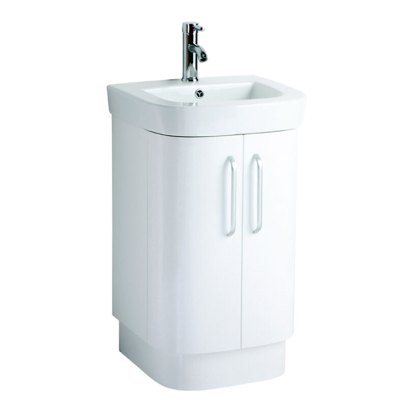 500mm Bathroom Sink : 500mm Verona White Bathroom Floor Standing Vanity Ceramic Basin ...