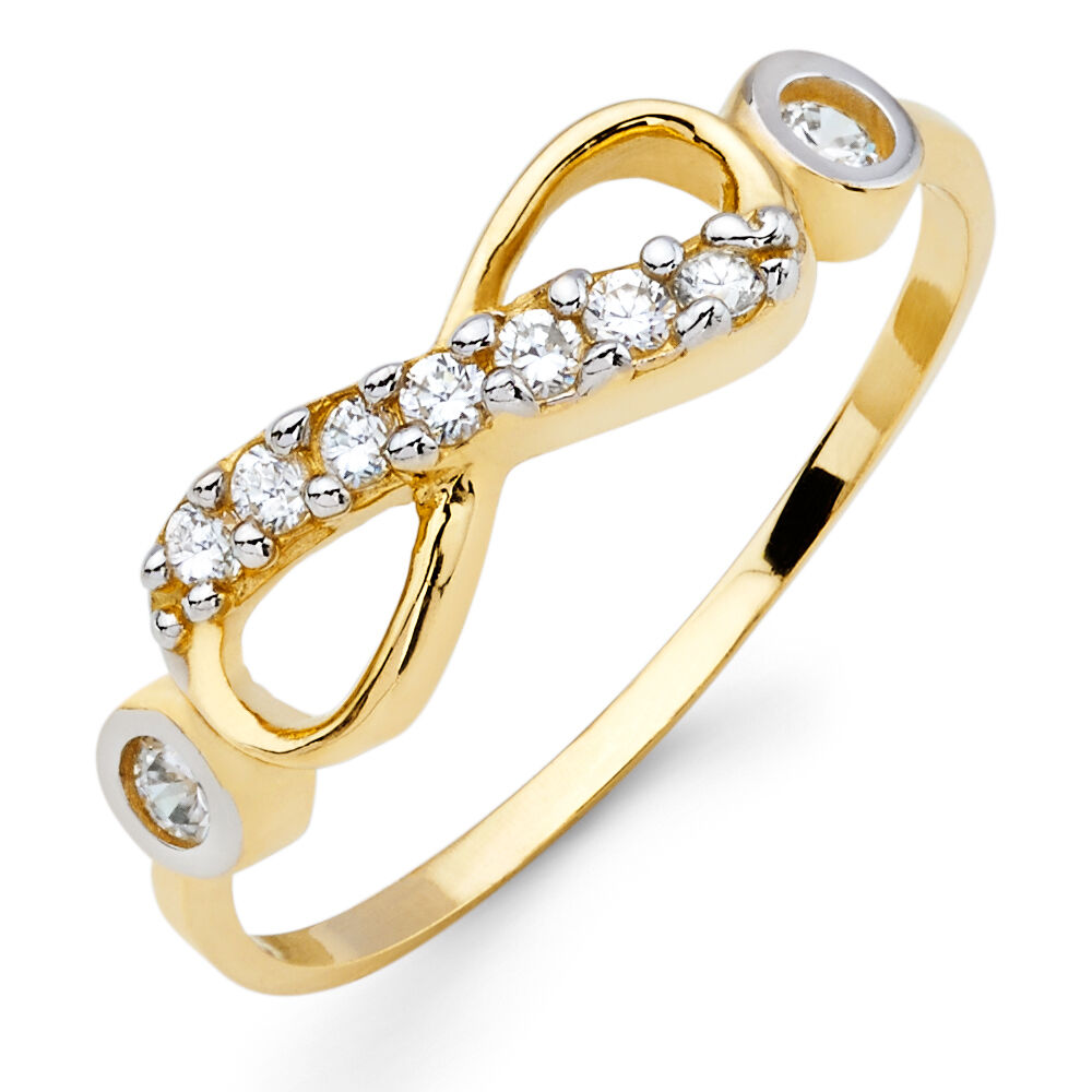 14k yellow gold high infinity