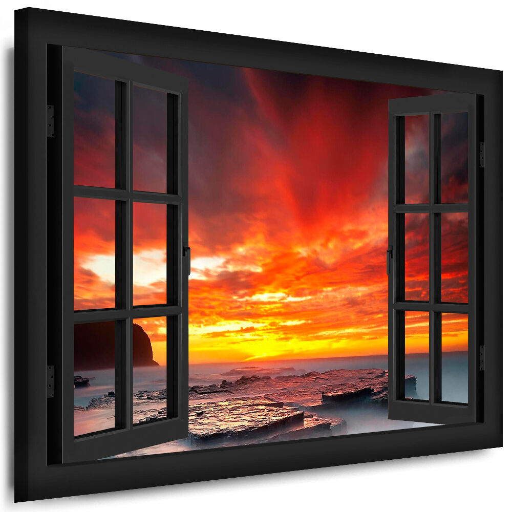 leinwand bild fenster blick 22 bilder sonne meer strand. Black Bedroom Furniture Sets. Home Design Ideas