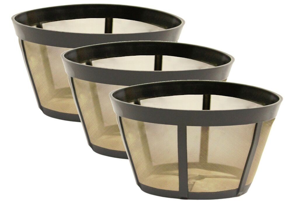 One Cup Coffee Maker With Permanent Filter : 3 PK GoldTone Permanent Reusable Basket Coffee Filter Fits BUNN * Coffee Makers eBay