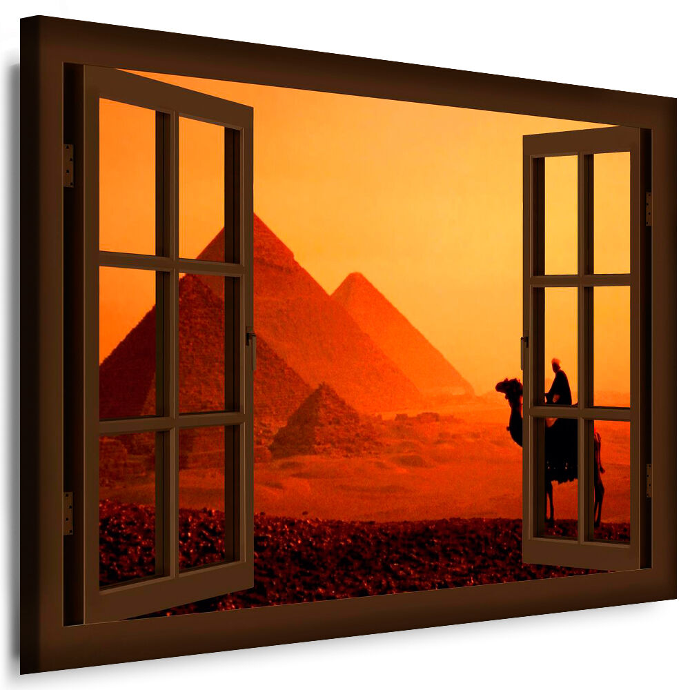 leinwand bild fensterblick 46 bilder cheops pyramide w ste kunstdrucke k poster ebay. Black Bedroom Furniture Sets. Home Design Ideas