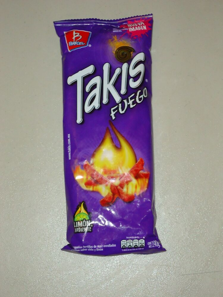 Takis Fuego By Barcel Hot Chili Pepper Lime Flavor Corn Snacks