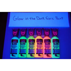 Kyпить Tulip 6 Pack 1.25oz Assorted Glow in the Dark Fabric Paint Set на еВаy.соm