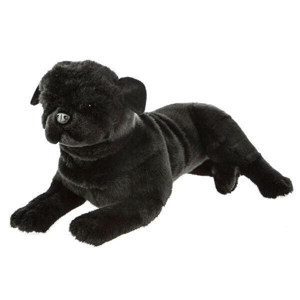 black pug stuffed animal pug black dog lying soft plush toy bandit 16 quot 40cm by 281