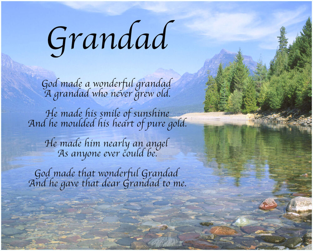 Personalised grandad poem fathers day birthday christmas gift present