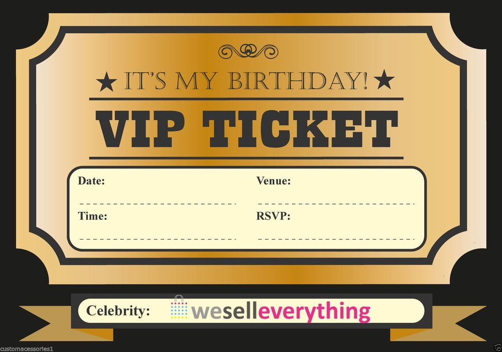 Vip Ticket Invitation Template