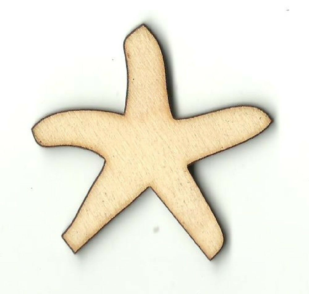 Starfish unfinished wood shapes craft supplies variety for Craft supplies wooden shapes