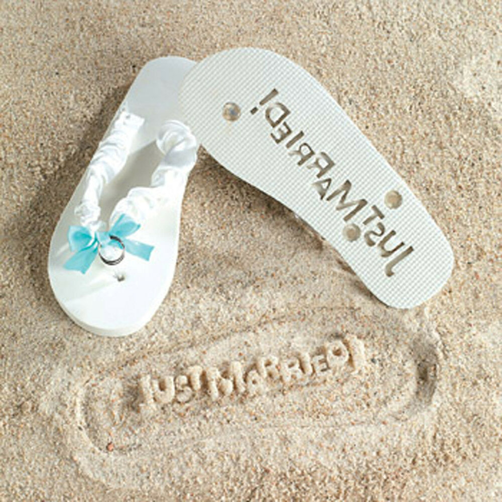 Wedding Gifts For Bride Something Blue : ... JUST MARRIED Sand IMPRINT Something Blue Shower Wedding Gift eBay