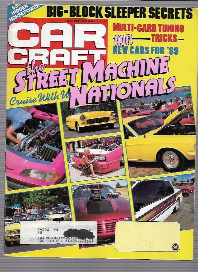 Car craft magazine october 1988 the street machine for Car craft magazine back issues