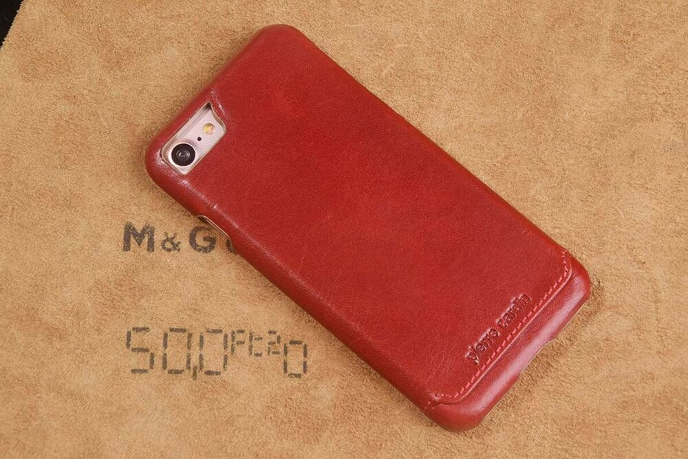 Pierre cardin red genuine leather cover hard back case for apple iphone 5g 5s ebay - Iphone 5s leather case ...