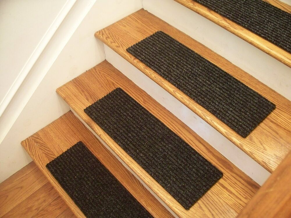 Premium Carpet Stair Tread Sets Rugged Charcoal 30 Quot X