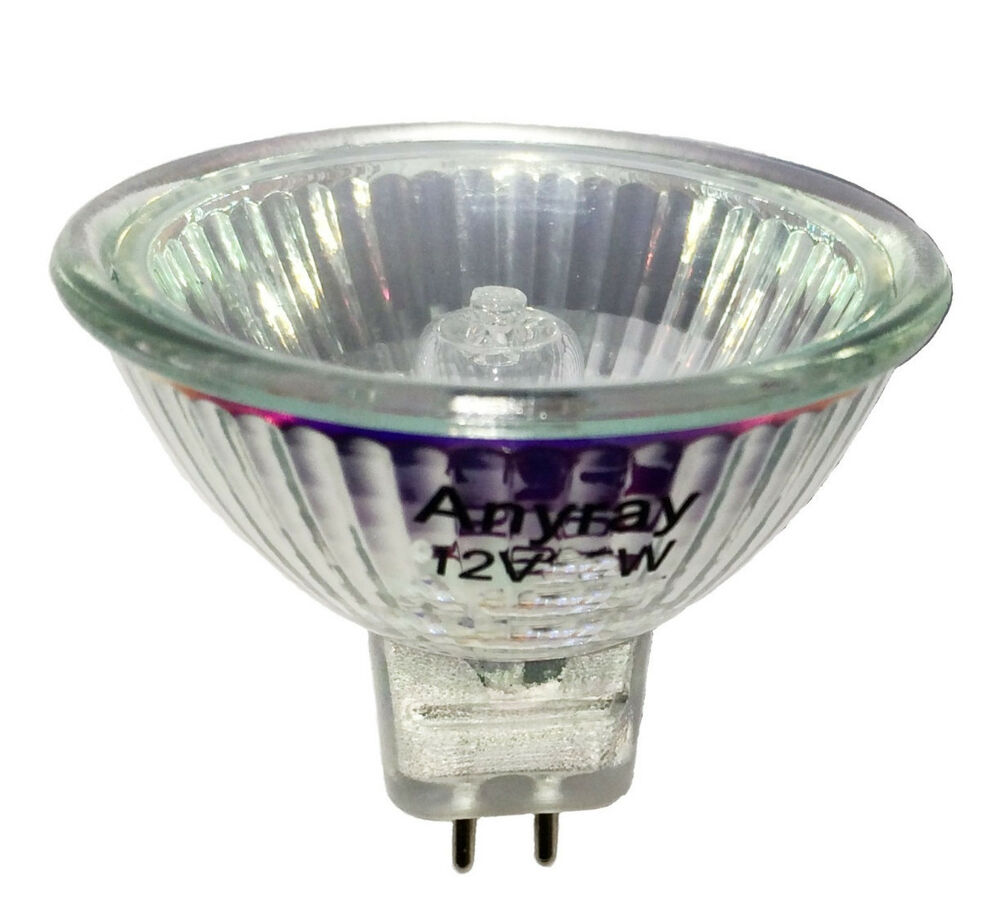 Q75mr16em Mr16 Halogen Light Bulb: Anyray (10)-Pack MR16 12-Volts 10W Flood Halogen Light