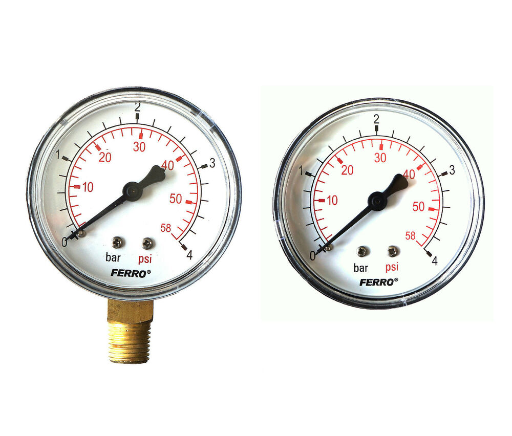 Industrial 63mm Hydraulic Pressure Gauge Manometer Both ...