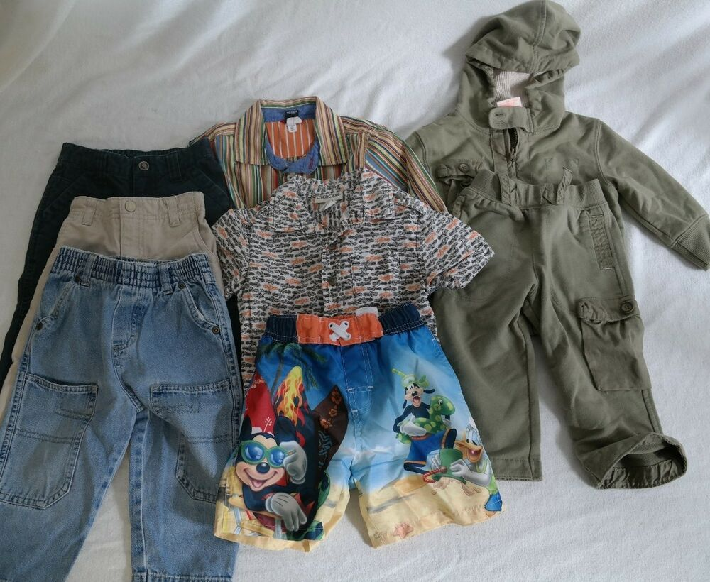 Boys Baby 18 month clothes lot Toddler Summer Fall Carters ...