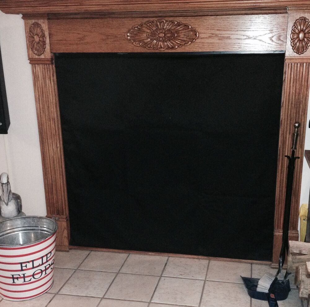 Insulated Magnetic Fireplace Fashion Cover To Stop