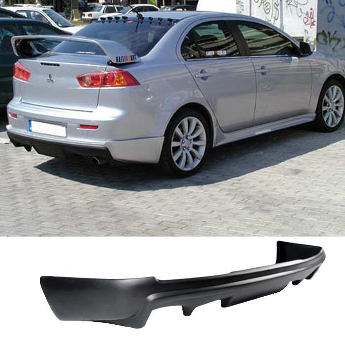 08 15 mitsubishi lancer rear bumper lip add on valence for Garage mitsubishi valence