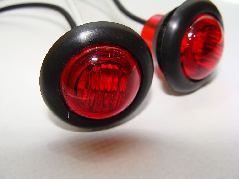 20 3 4 Quot Clearance Side Marker Light Led Red Lens New Truck