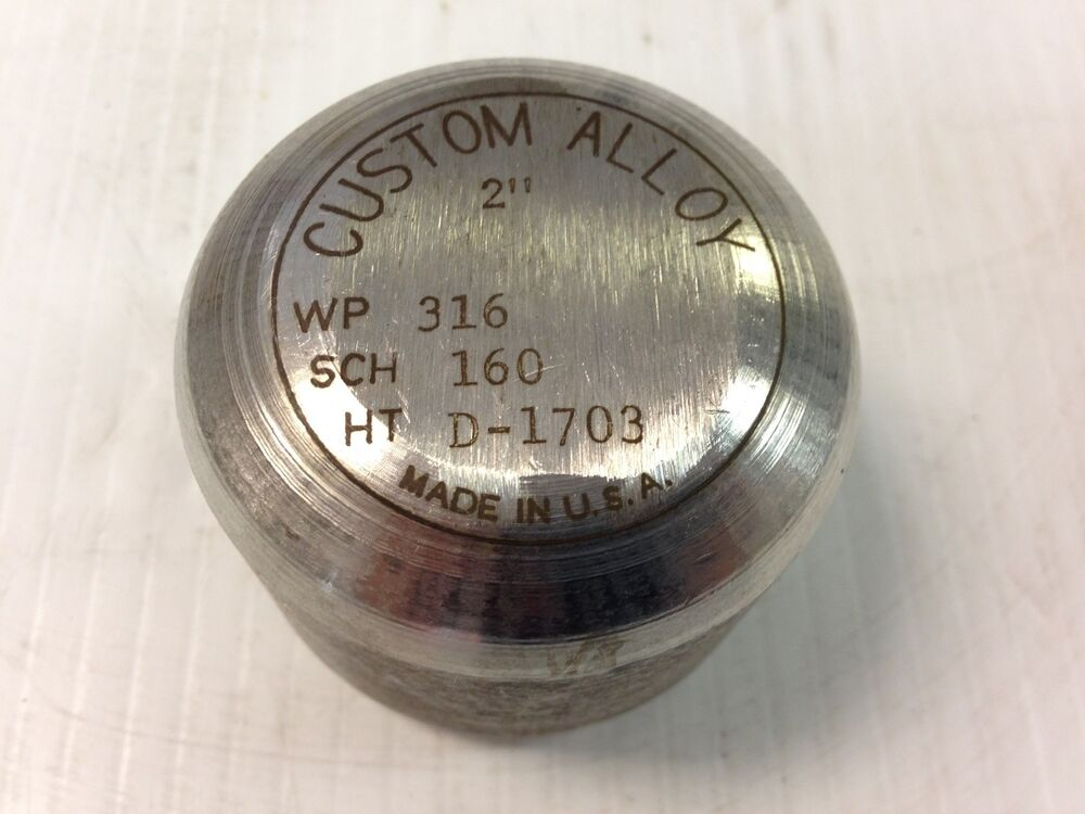 Quot pipe cap stainless steel schedule ss inch