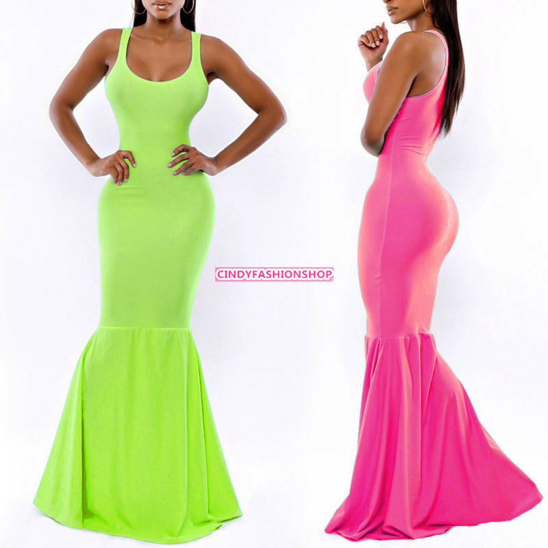 2ee6a7381b6 Details about Women Sexy Prom Ball Gown Maxi Long Party Cocktail Evening  Formal Wedding Dress