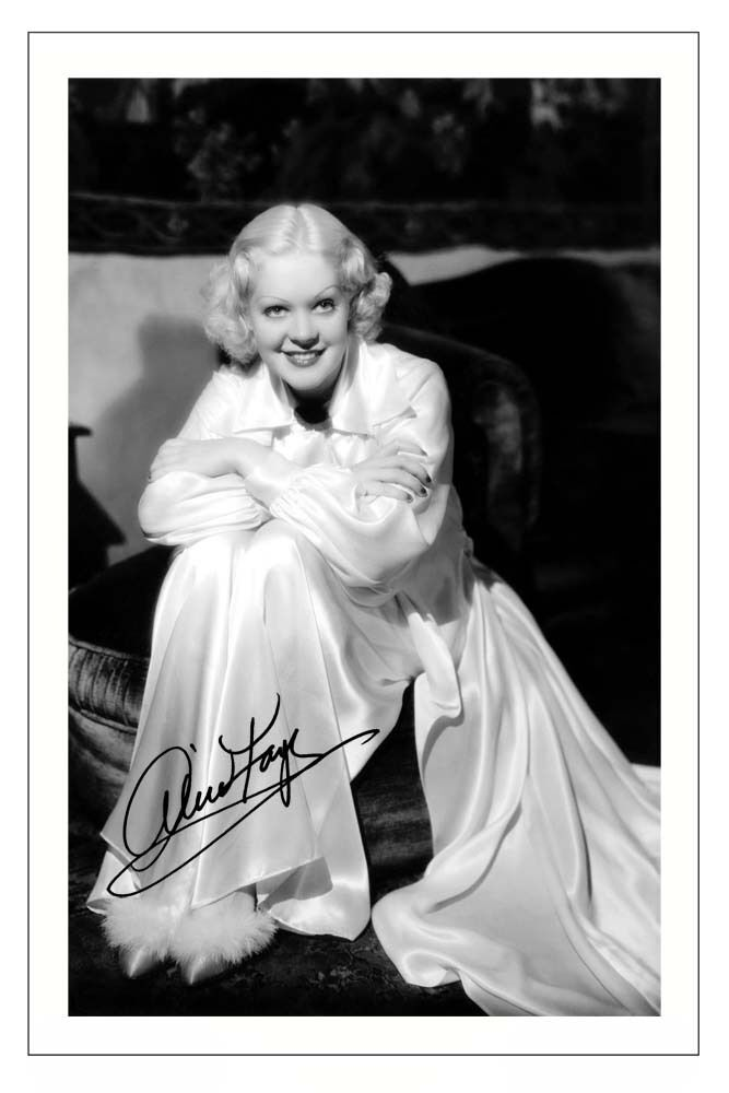 ALICE FAYE SIGNED PHOTO PRINT POSTER AUTOGRAPH VINTAGE ...