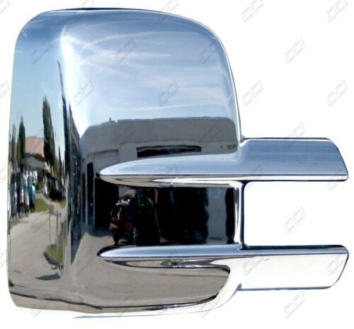 chrome mirror covers for 2000 2015 chevy silverado 2500 3500 hd w towing mirrors ebay. Black Bedroom Furniture Sets. Home Design Ideas