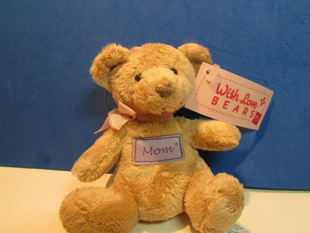 mom teddy bear key chain 4 sitting position new russ w love bears ebay. Black Bedroom Furniture Sets. Home Design Ideas