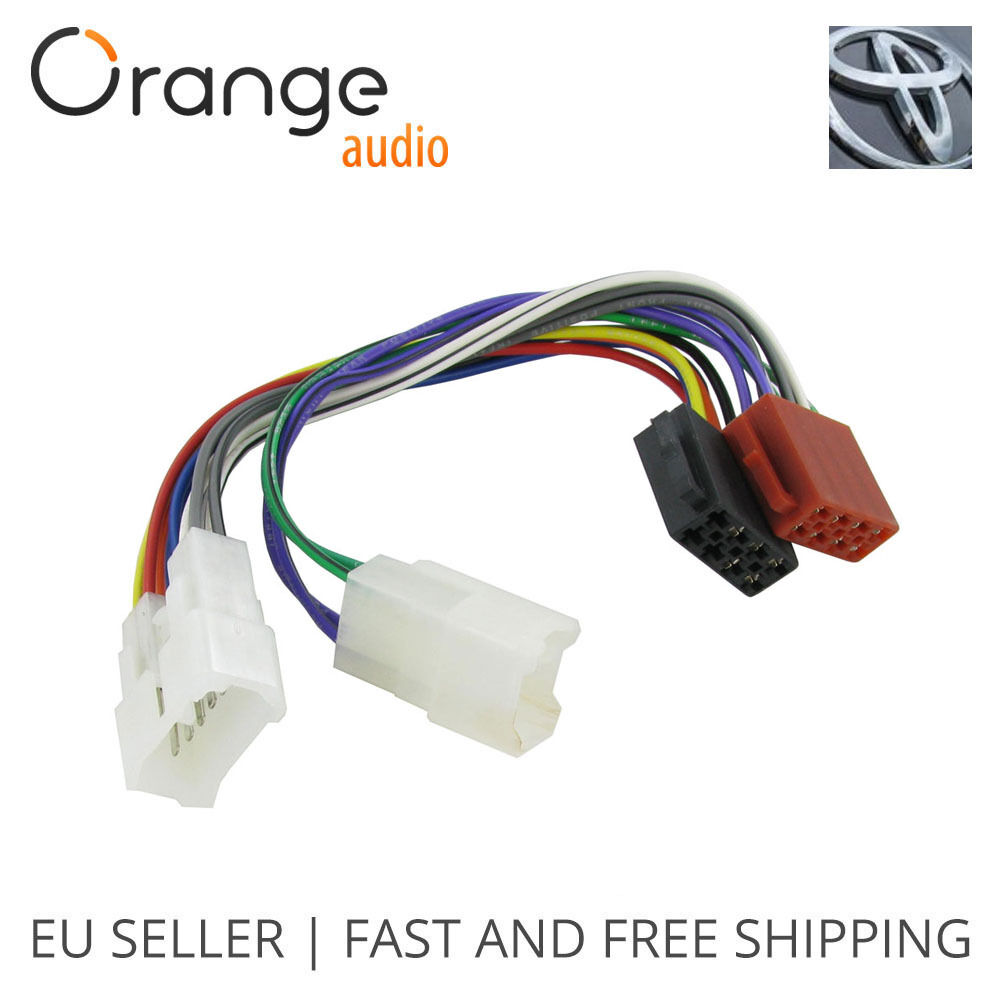 Wiring lead harness adapter for toyota iso stereo plug