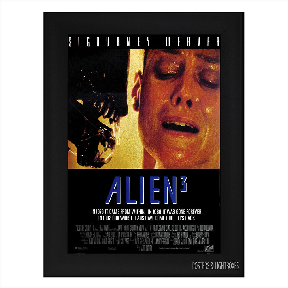 Alien 3 Movie: ALIEN 3 Sigourney Weaver Framed Film Movie Poster A4 Black