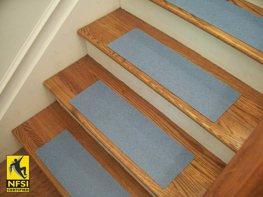 Nfsi High Traction Vinyl Stair Tread Sets Blue 589