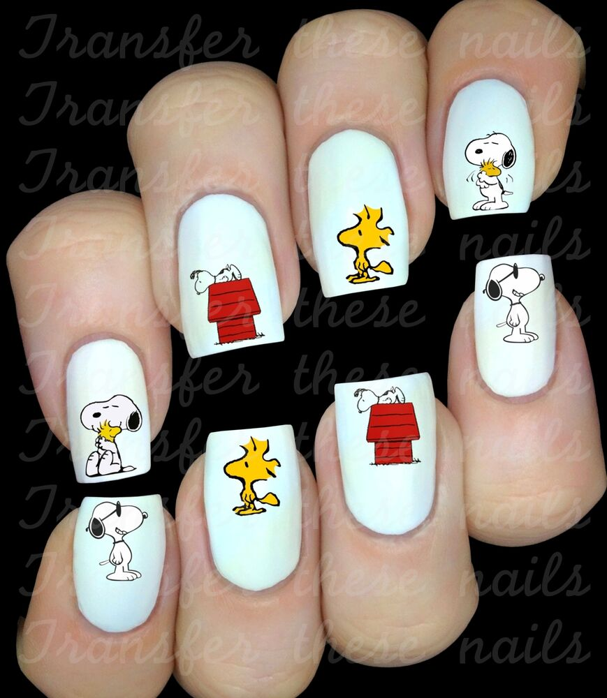 30 SNOOPY WOODSTOCK NAIL ART DECALS STICKERS WATER TRANSFERS PARTY FAVORS |  eBay - 30 SNOOPY WOODSTOCK NAIL ART DECALS STICKERS WATER TRANSFERS PARTY
