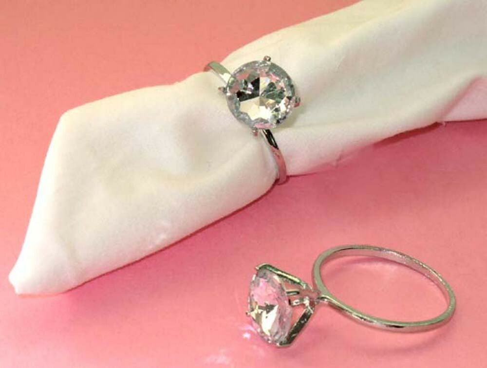 30 diamond napkin rings bridal shower wedding party supplies favor