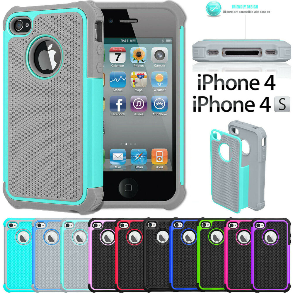 iphone 4 s cases shock proof rubber matte cover for apple iphone 8607