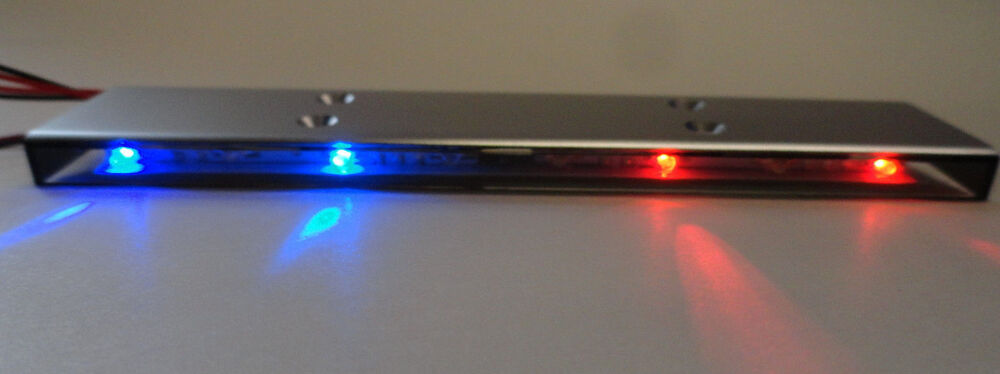 Apex RC Products 1 10 16 LED Police Light Bar W 9 Selectable Modes 9015RB