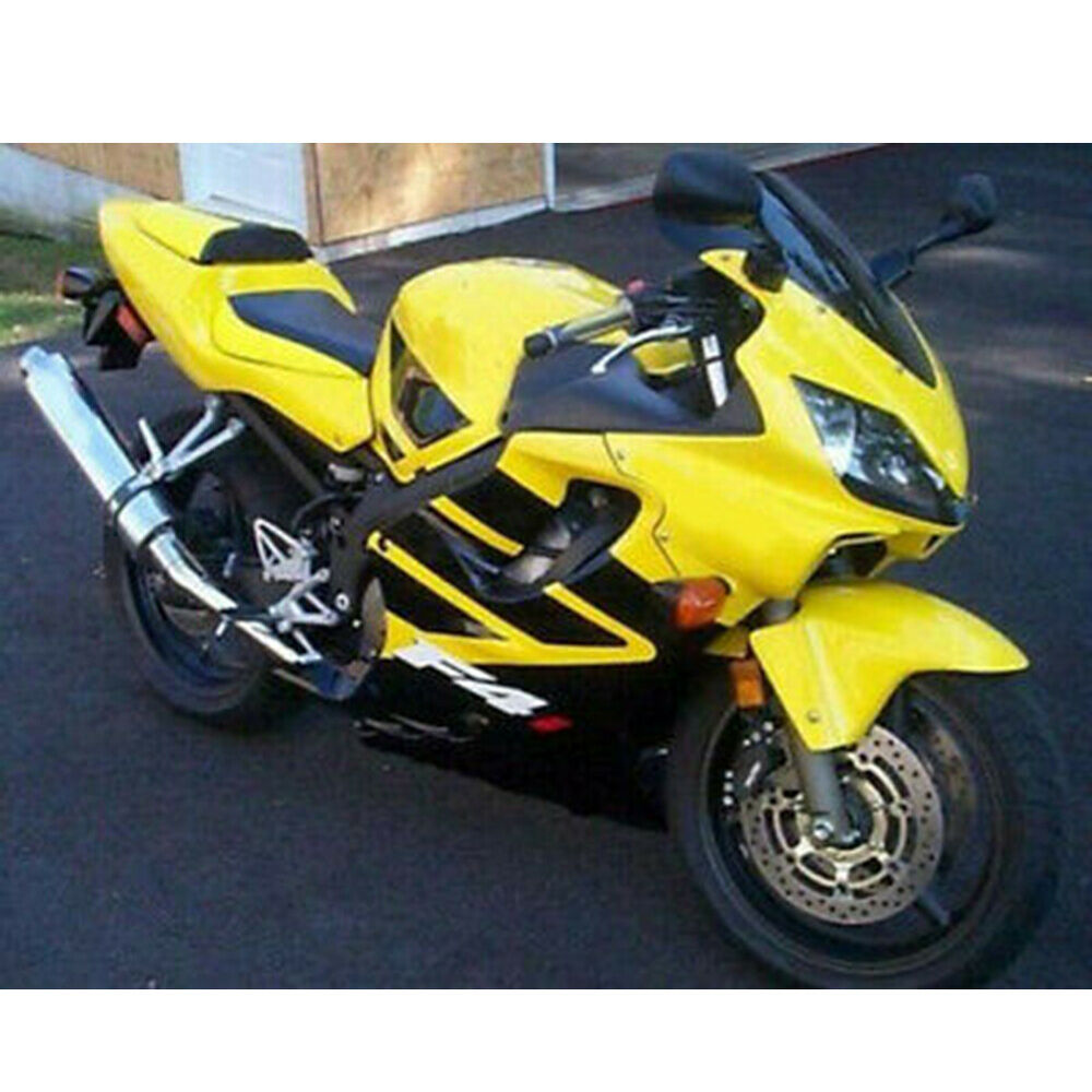 yellow black complete injection fairing for 2001 2002 2003 honda cbr 600 f4i ebay. Black Bedroom Furniture Sets. Home Design Ideas