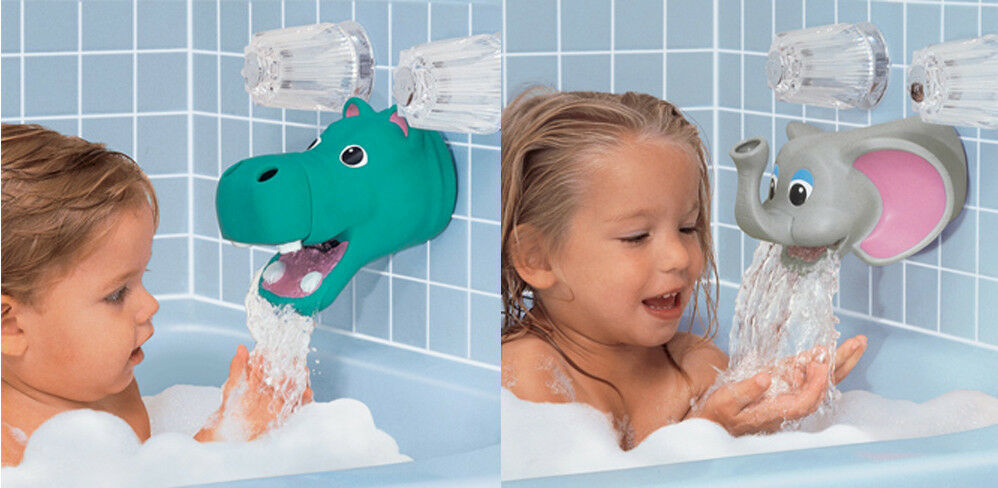 hippo or elephant bath tub faucet spout cover protector guard bubble dispenser ebay. Black Bedroom Furniture Sets. Home Design Ideas